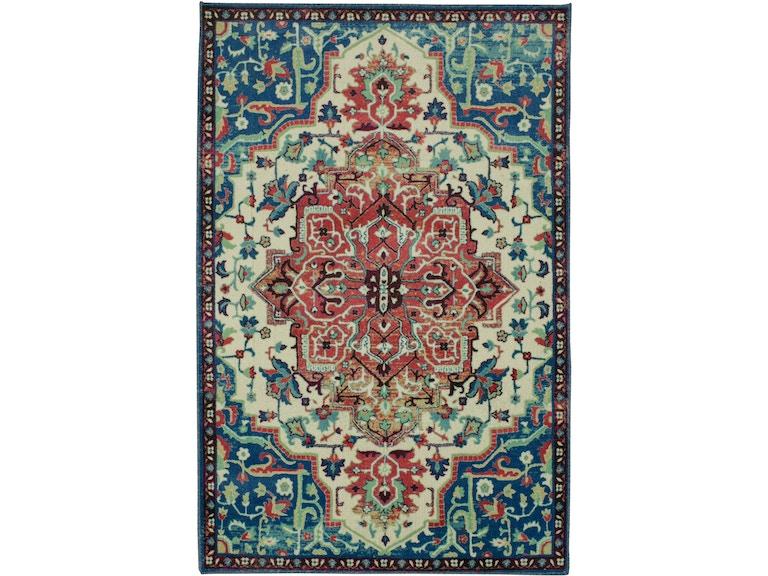 Mohawk Floor Coverings Prismatic Emiko Blue 10 X 14 Rectangle Rug Z0014 A439 120168 Hennen