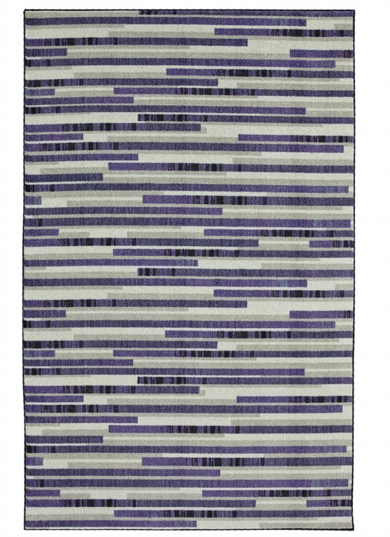 Mohawk Floor Coverings Prismatic Stacked Tile Purple 5 X 8 Rectangle Rug Z0221 A409 060096