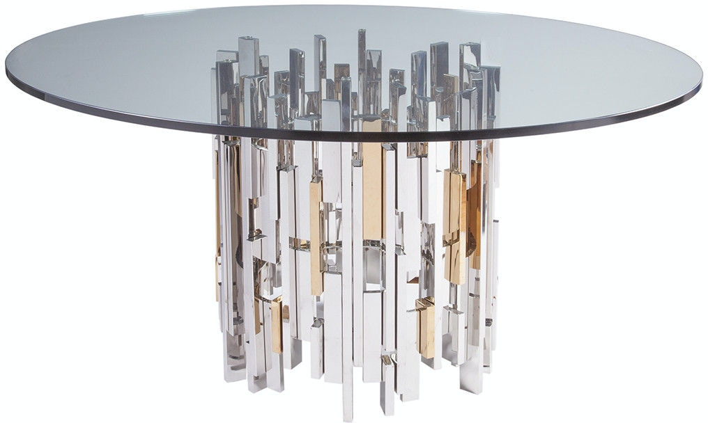 Stainless Steel Dining Table With Glass Top Price