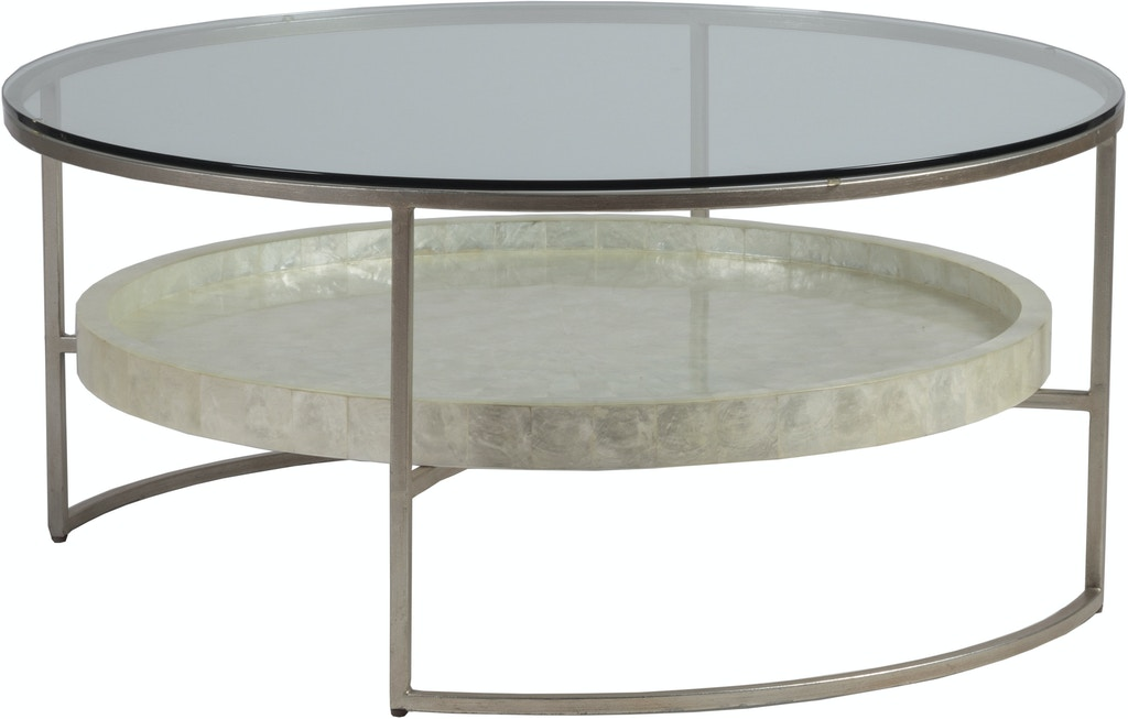 Artistica Home Living Room Cumulus Capiz Round Cocktail Table Base