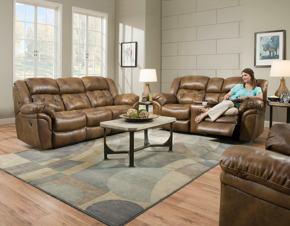 Homestretch Living Room Double Reclining Sofa 155 30 15