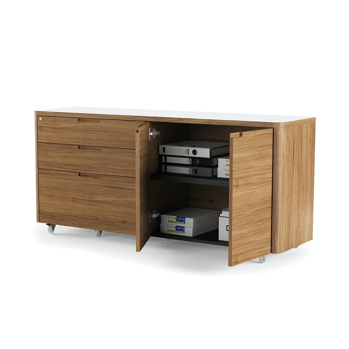 Office Credenza Perth : Bdi home office kronos mobile credenza sw wl upper