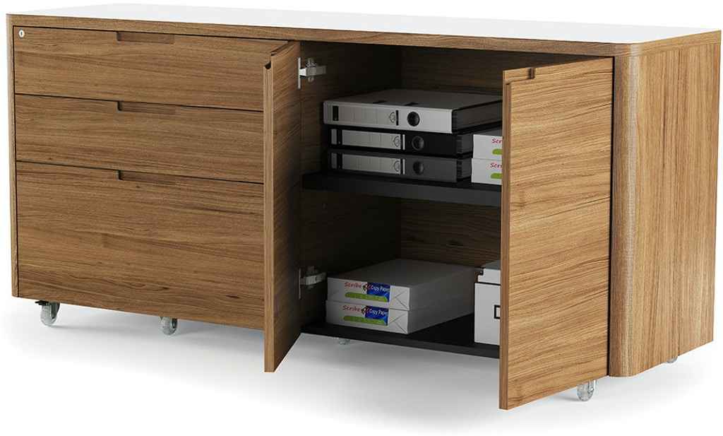 Credenza Perth : Bdi home office kronos 6729 mobile credenza sw wl upper room