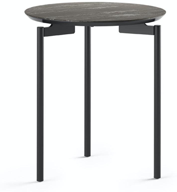 Radius Taupe Square Modern Coffee Table By Bdi: BDI Living Room Radius 1736 Round End Table