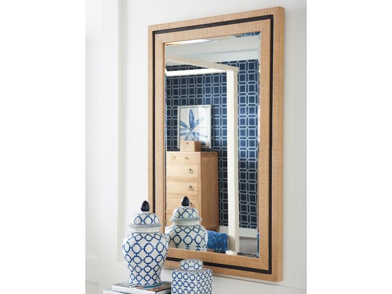 Barclay Butera By Lexington Accessories La Costa Rectangular Raffia Mirror 920 205 At Woodbridge Interiors