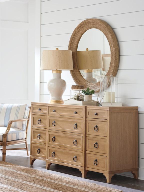 Barclay Butera By Lexington La Jolla Woven Round Mirror 920 201