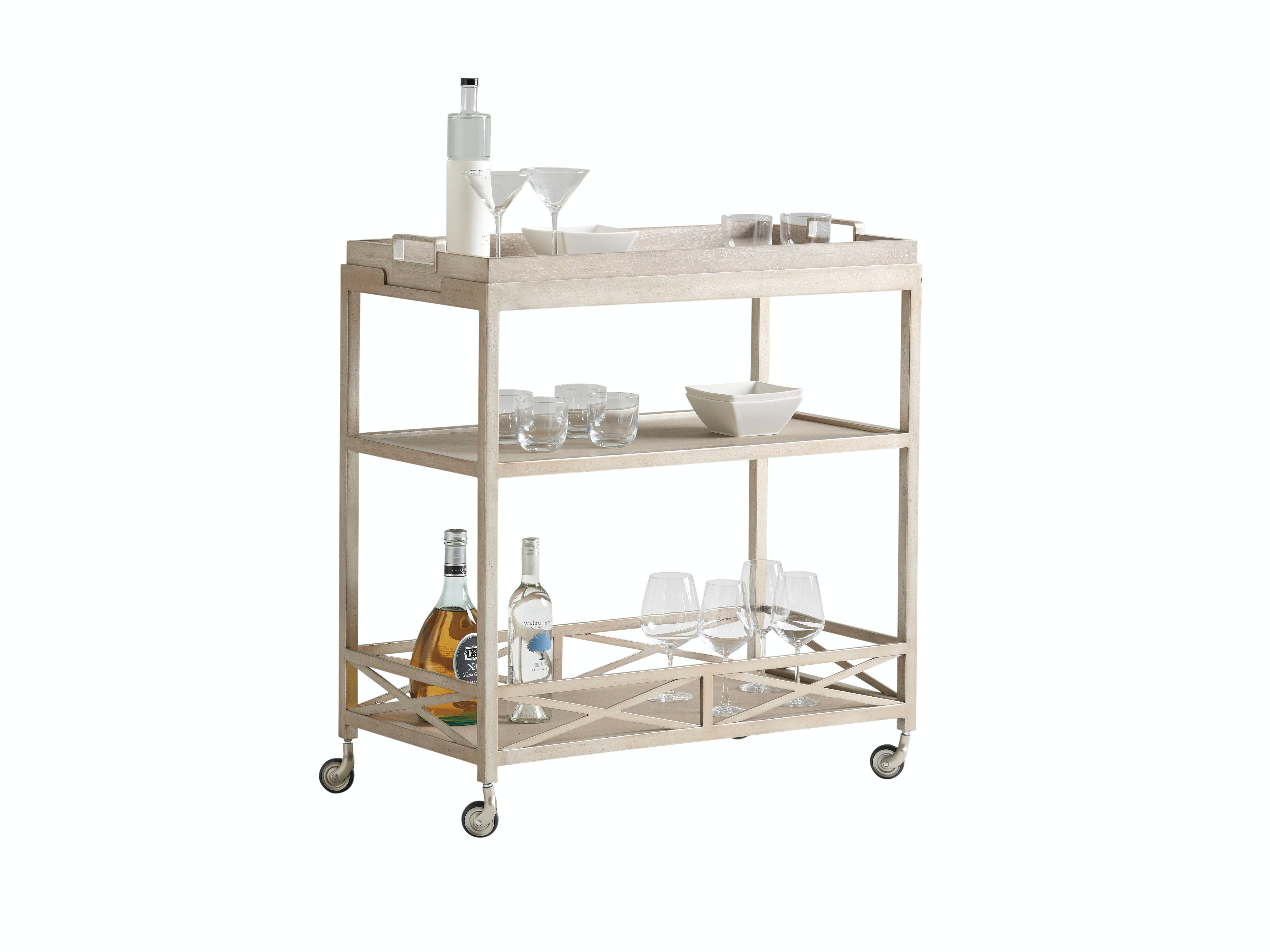 Barclay Butera By Lexington Accessories Anacapa Metal Bar Cart 926 862 White House Designs For