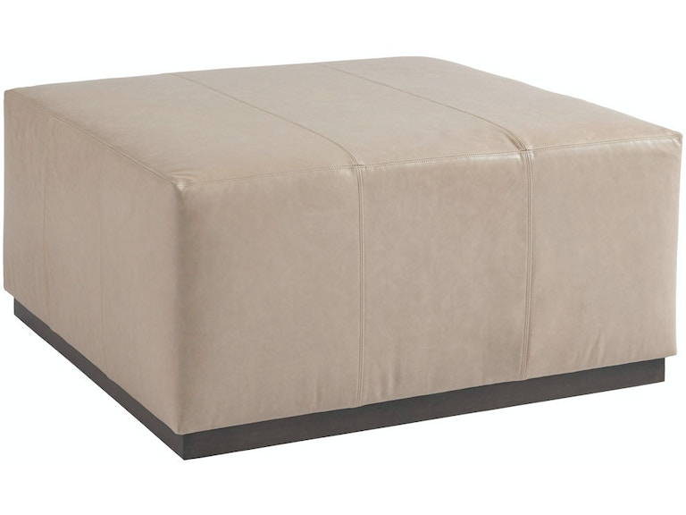 Barclay Butera By Lexington Living Room Clayton Leather Ottoman Ll5455 46 Bacons Furniture Port