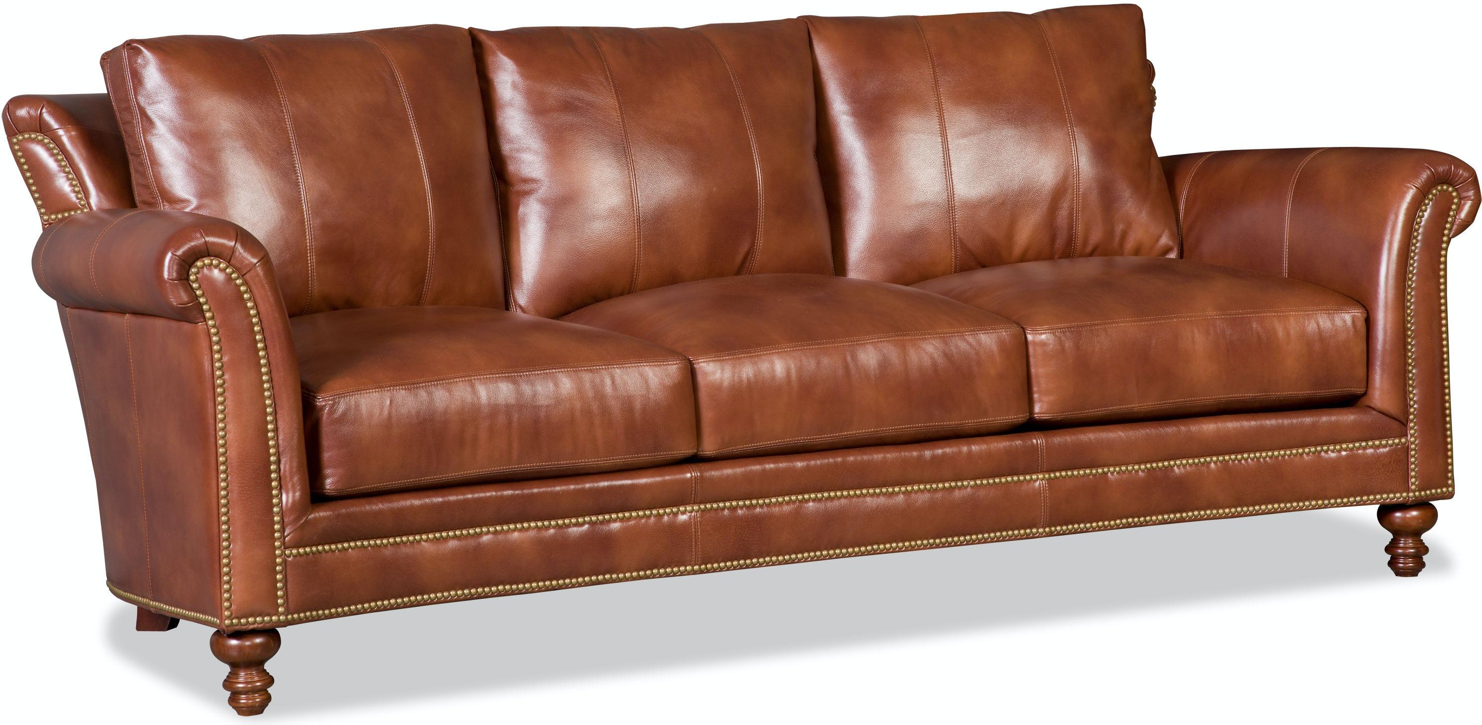 Bradington Young Living Room Richardson Stationary Sofa 8 Way Tie