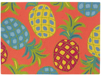 Company C Floor Coverings Pineapples Area Rug 10185-CORL - EMW
