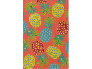 Company C Floor Coverings Pineapples Area Rug 10185 Corl
