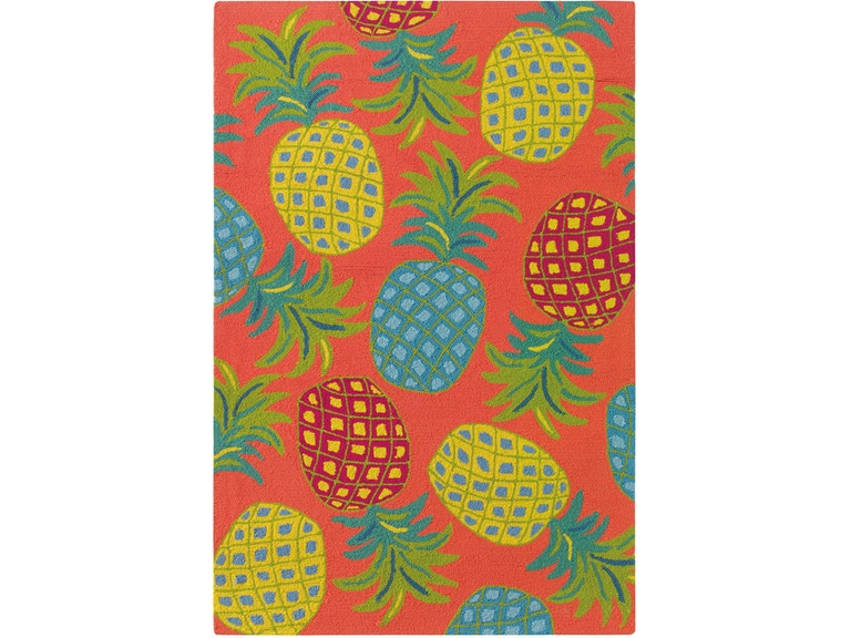 Company C Floor Coverings Pineapples Area Rug 10185-CORL