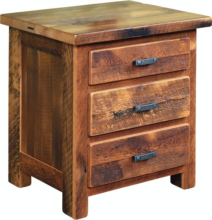 urban barnwood furniture farmhouse bedroom 3 drawer night