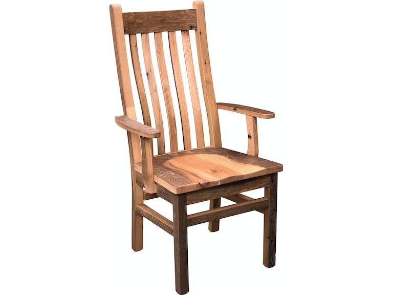 Astonishing Urban Barnwood Furniture Dining Room Mission Arm Chair Camellatalisay Diy Chair Ideas Camellatalisaycom