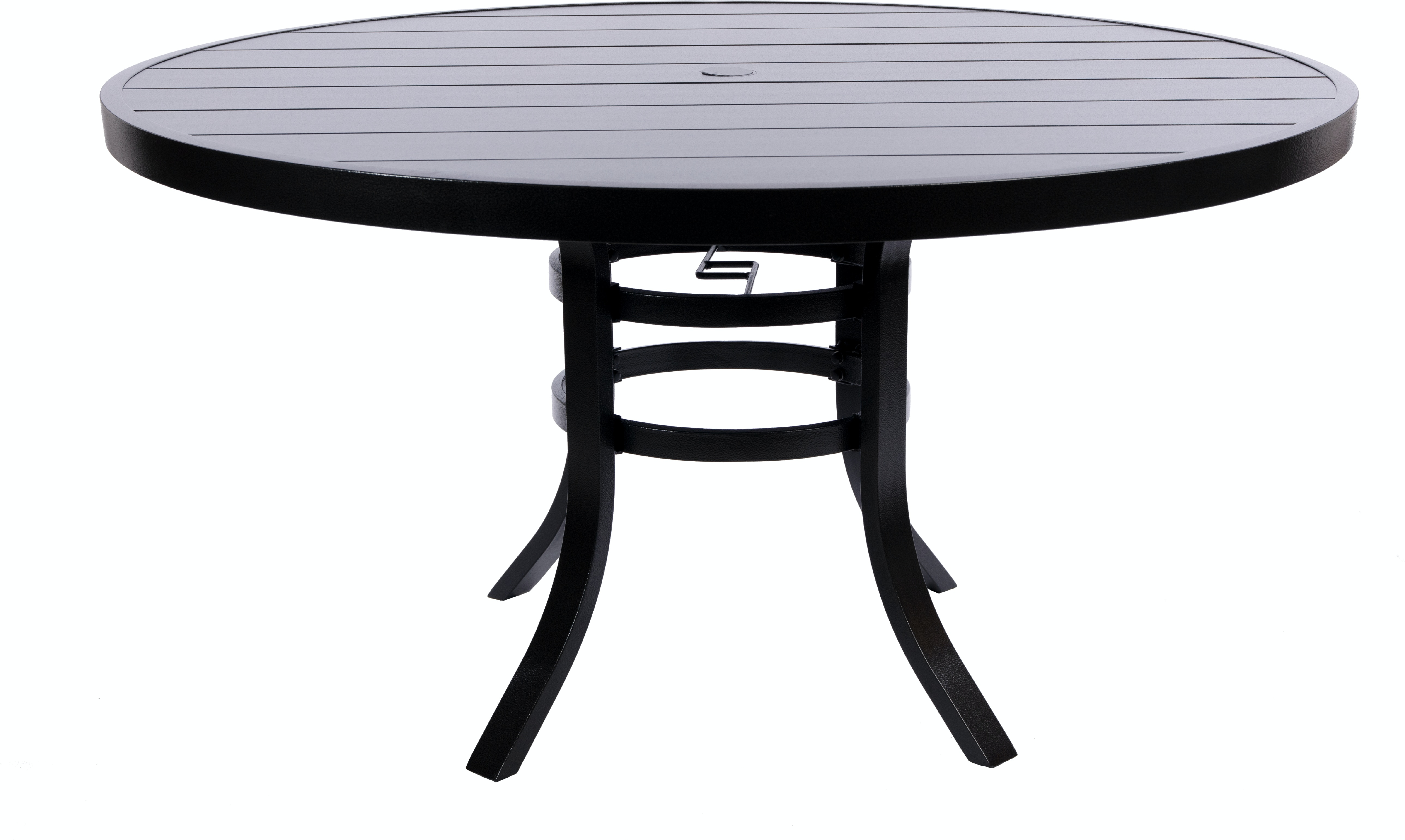 American Home Outdoor Patio 54 Inch Round Aluminum Slat Dining Table Aminis