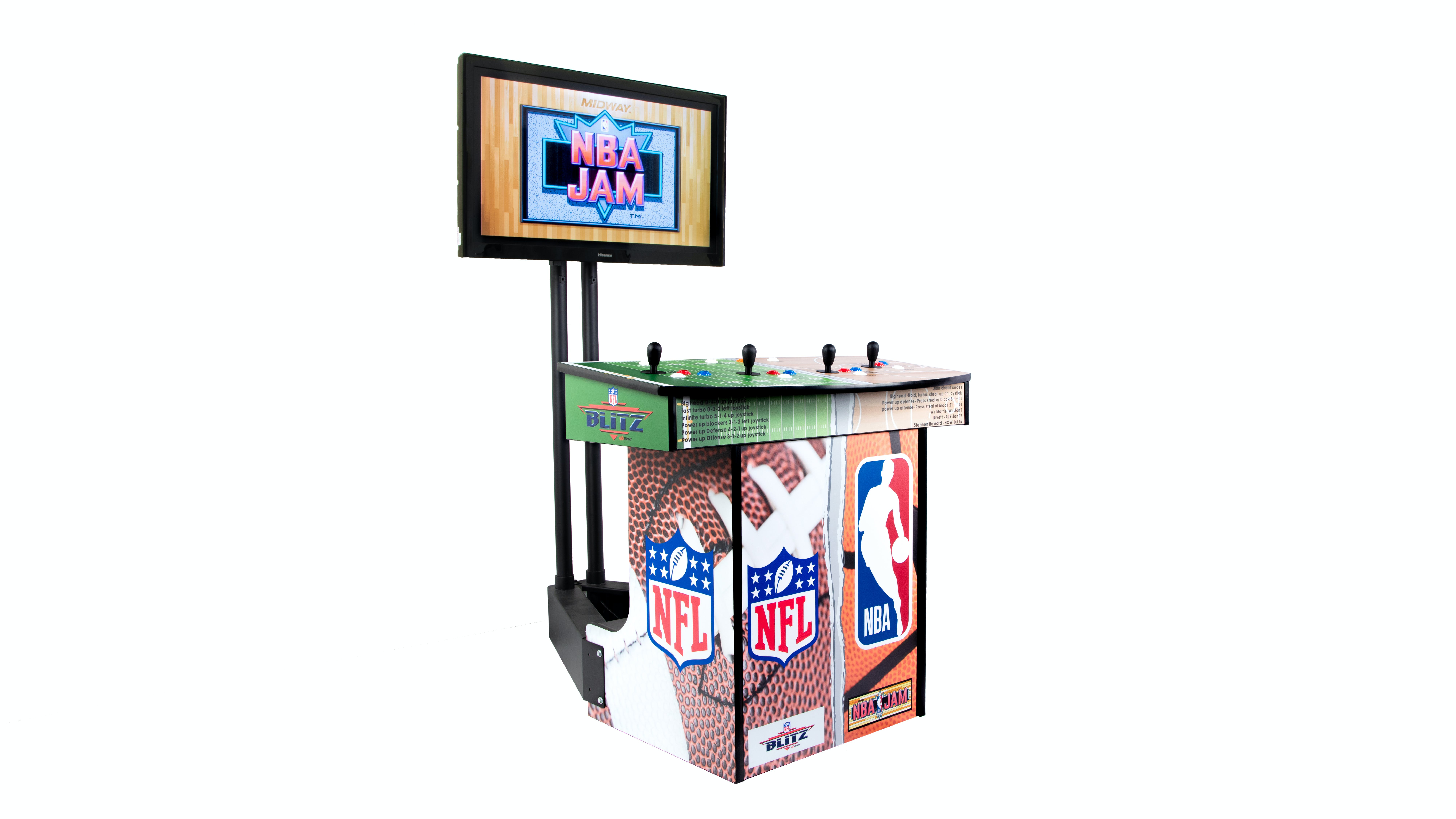 Amini S Family Games Bar And Game Room Classic Arcade Nba Jam Nfl Blitz Arcade Game With Monitor