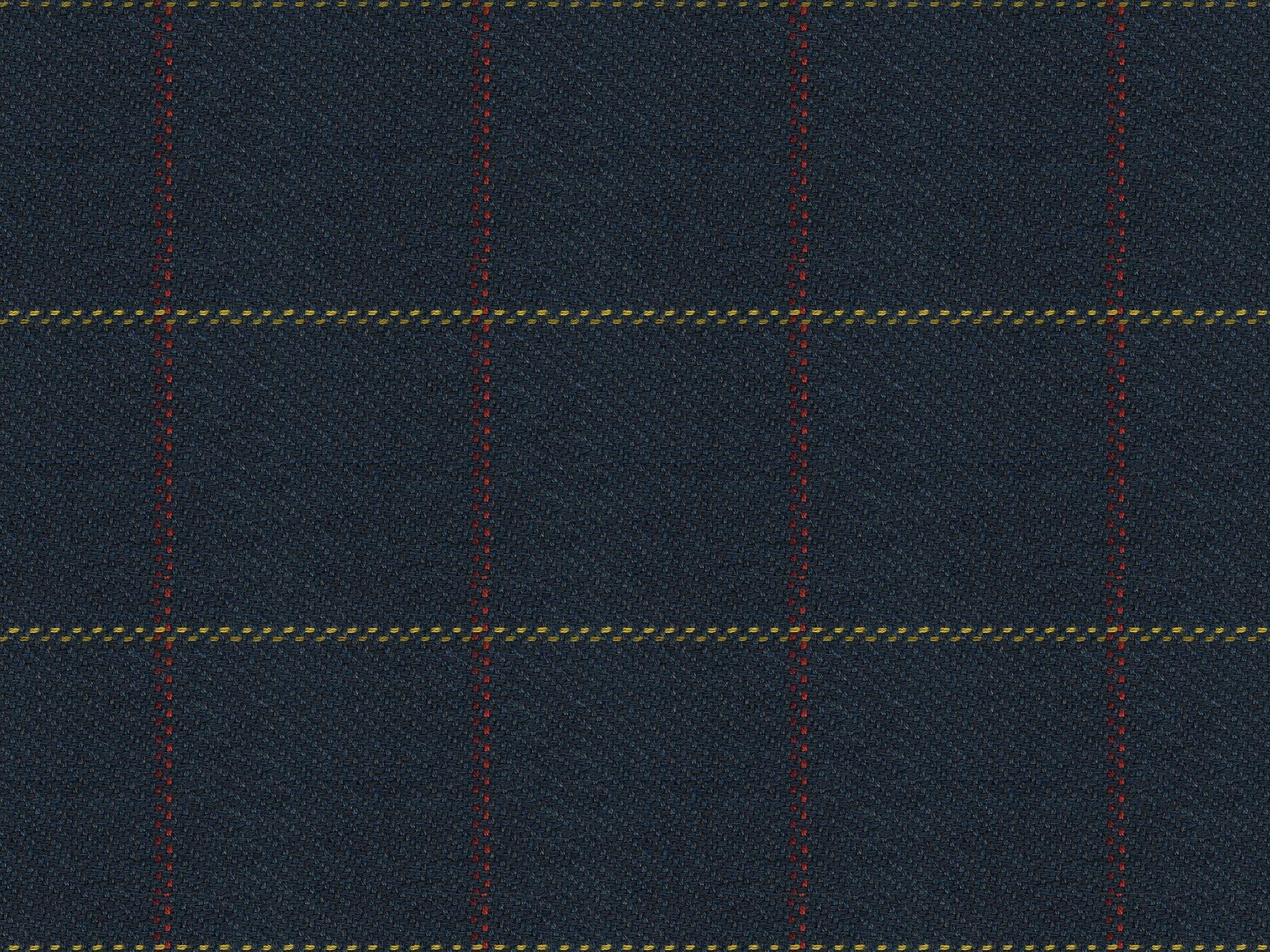 Bassett Woven Plaid Navy 2431 5 Woodchucks Fine