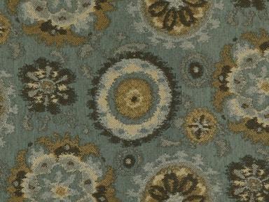 Bassett Woven Floral Aquamarine 3350 5 Kittle S