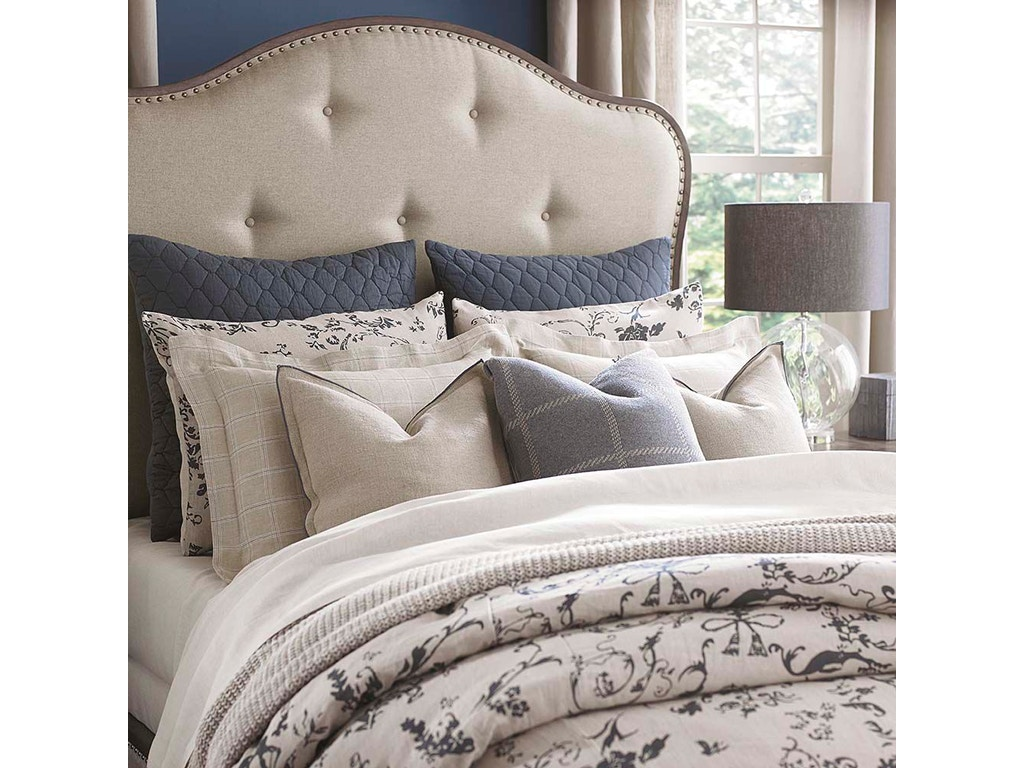 Bassett Bedroom Le Poet Steel Blue Queen Duvet 15373sbq Ross Furniture Bedding Jackson Mo