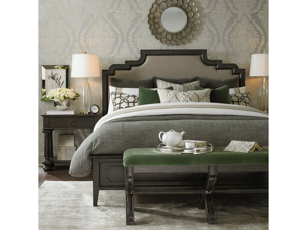 Bassett bedroom logan queen duvet charcoal 15310gq meg brown home furnishings advance for Bedroom furniture greensboro nc