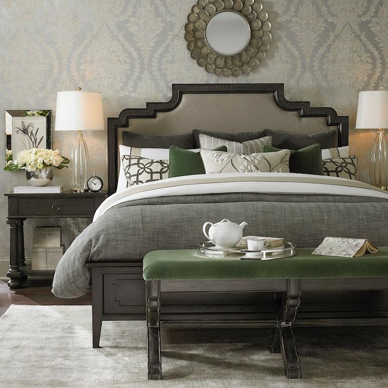 Bassett Bedroom Logan Queen Duvet-Charcoal 15310GQ
