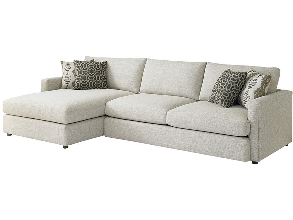Bassett living room left chaise sectional 2611 lcsect for Bassett sectional sofa with chaise