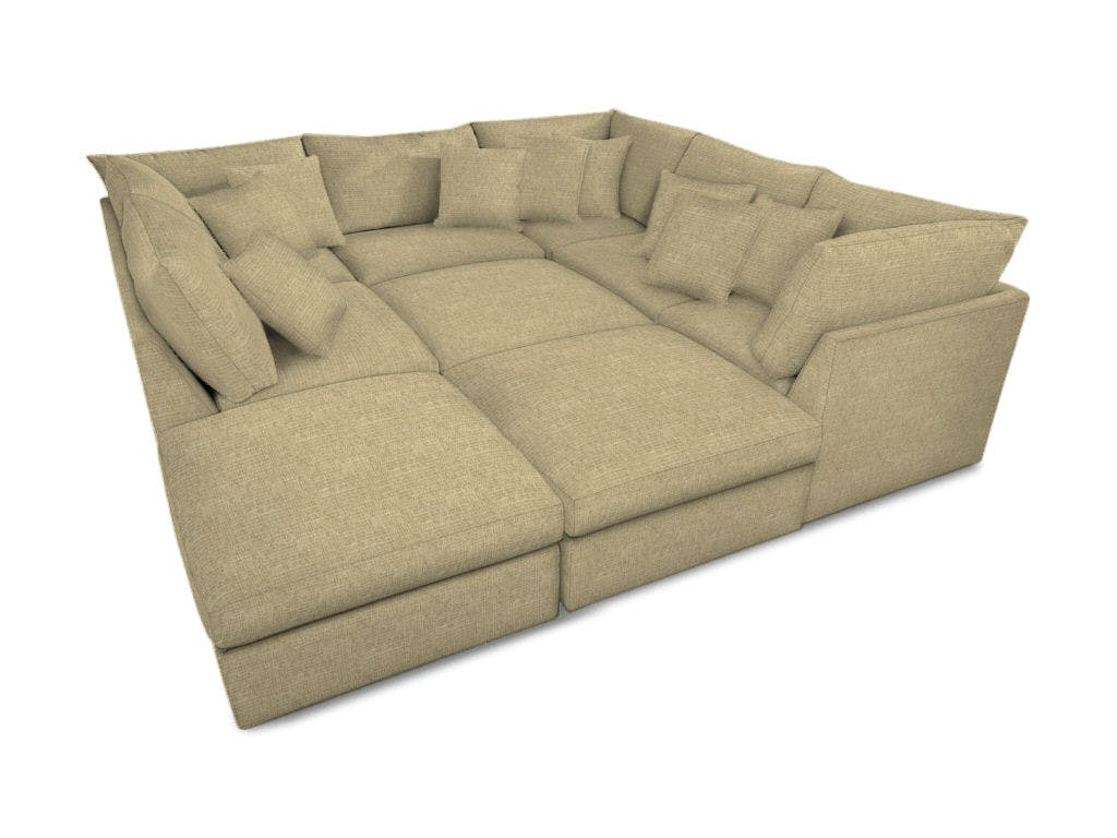 Picture of: Bassett Living Room Pit Sectional 2676 Psectfc D Noblin Furniture Pearl And Jackson Ms