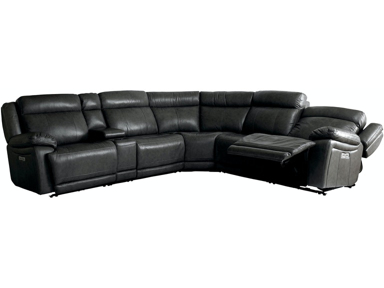 Bassett Living Room 6 Piece Motion Sectional 3706-LSECT6G ...