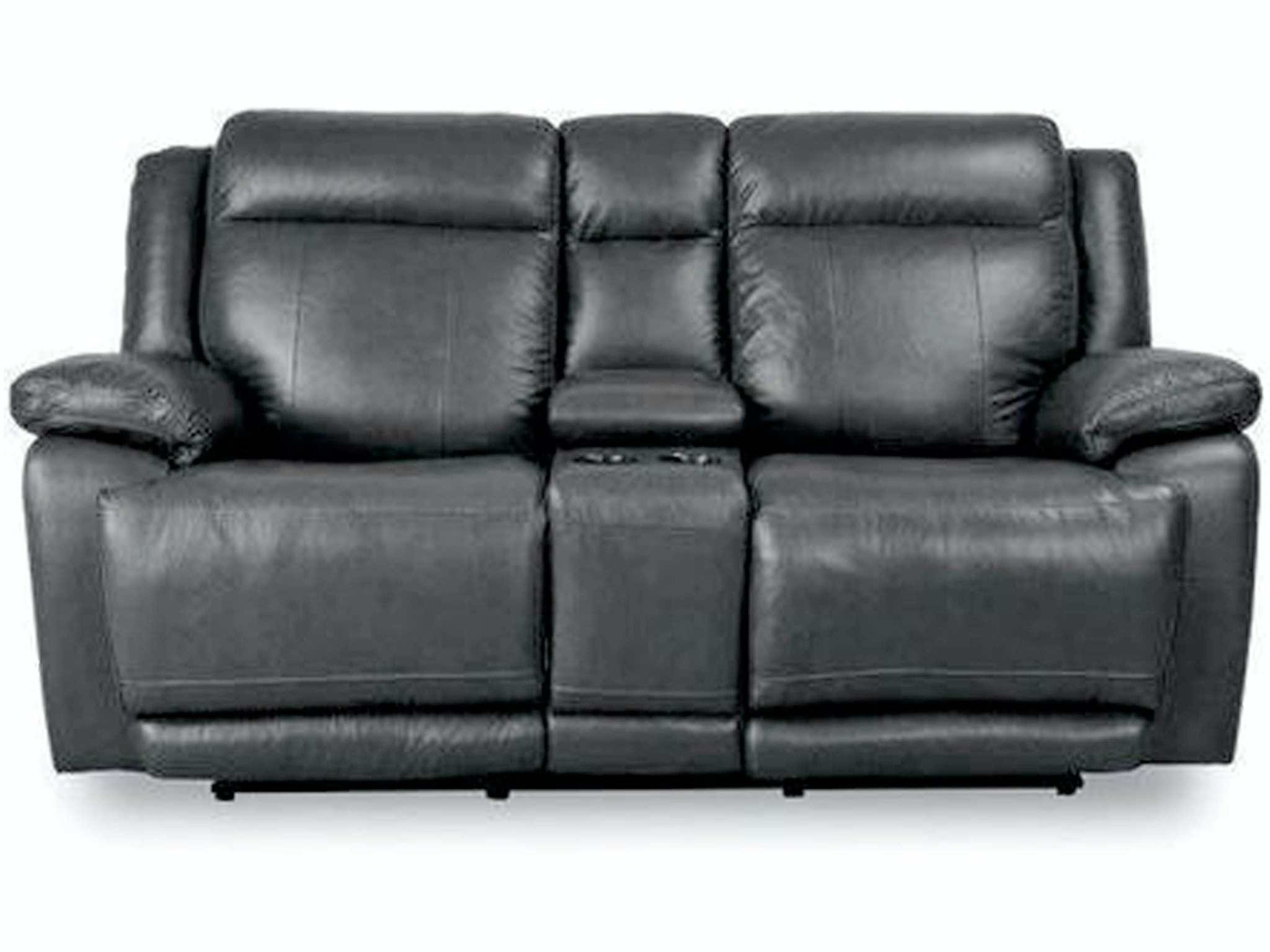 bassett living room loveseat w  power   console 3706 pc42g