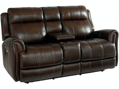 Bassett Loveseat w/Power & Console 3707-PC42C