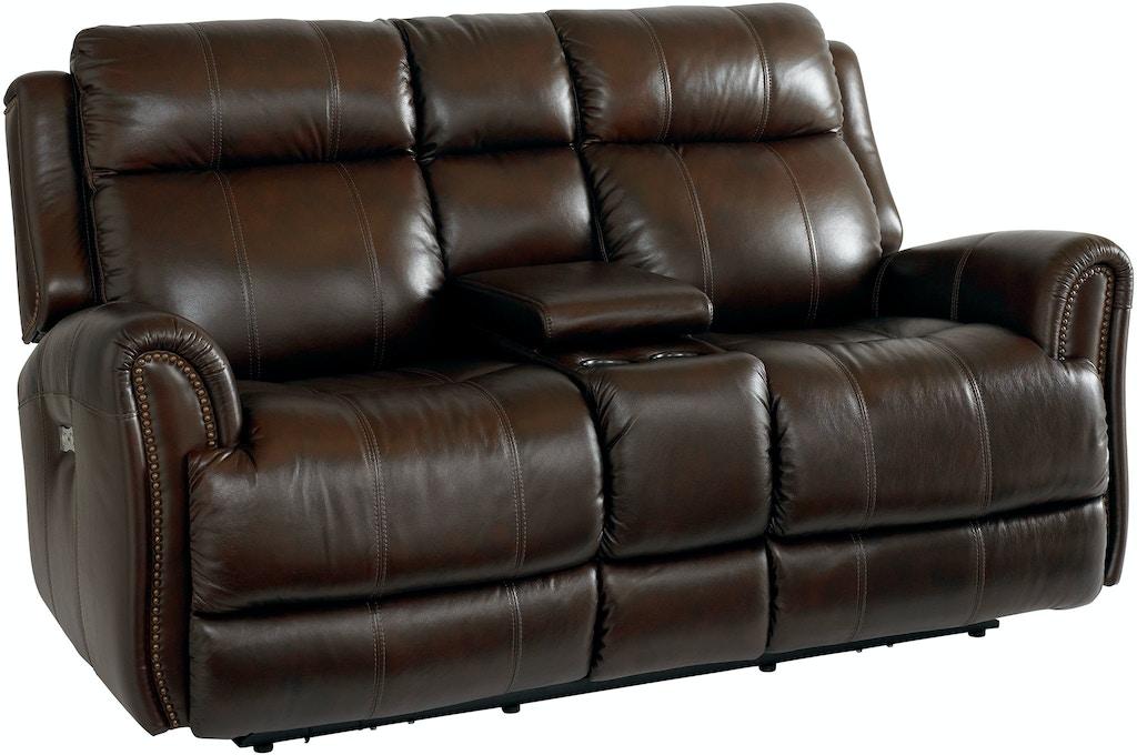 Bassett Living Room Loveseat W Power Amp Console 3707 Pc42c