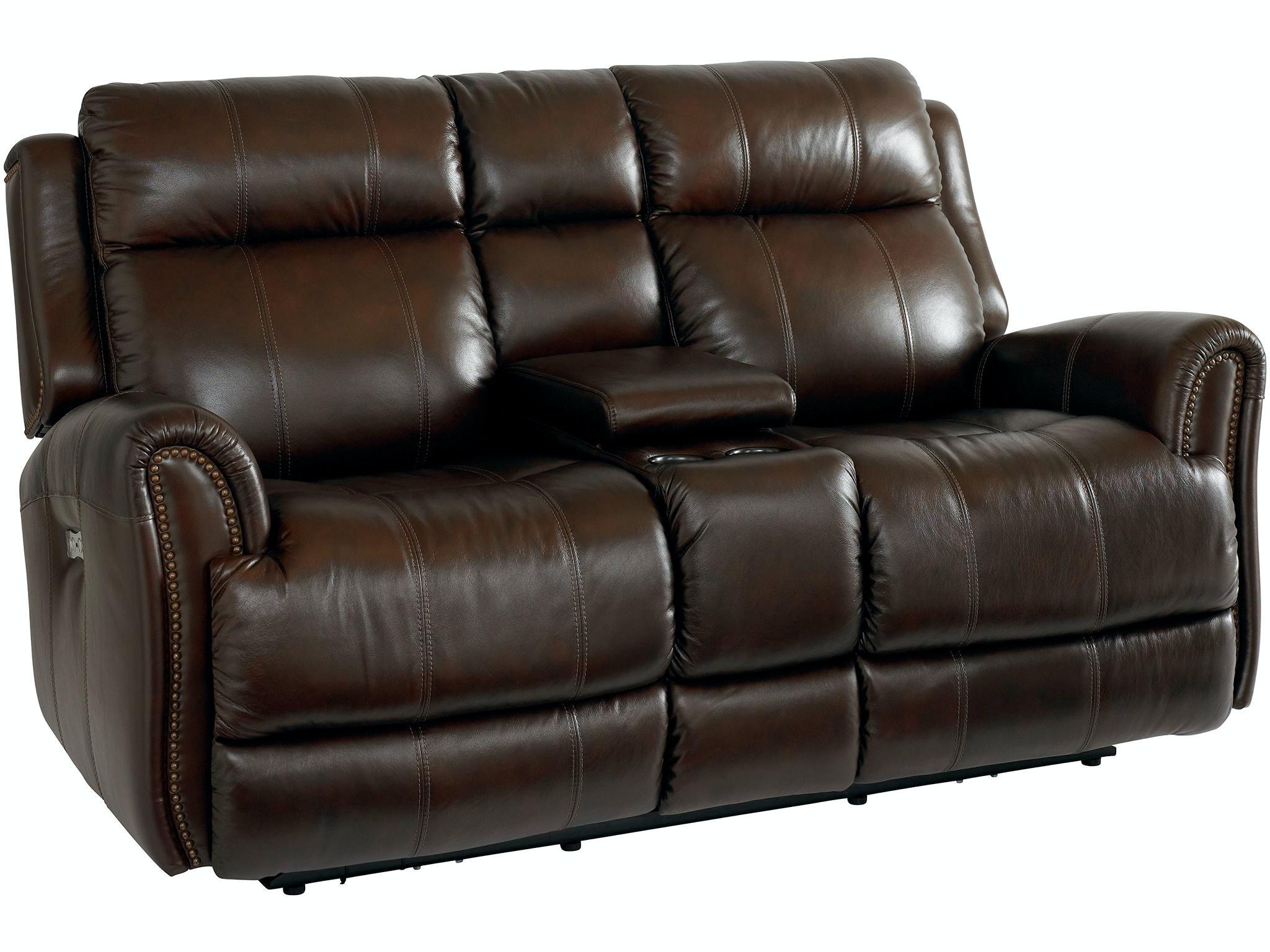 Bassett Living Room Loveseat W Power Console 3707 Pc42c