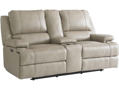Bassett Living Room Loveseat W Power Amp Console 3729 Pc42f