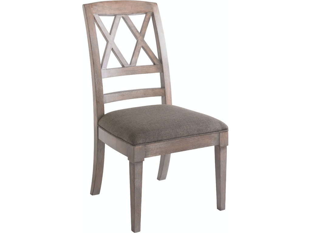 Bassett dining room x back side chair 4525 2455 hickory for X back dining room chairs