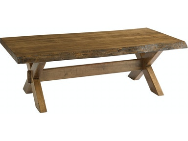 Bassett Living Room Crossbuck Live Edge End Table 6015