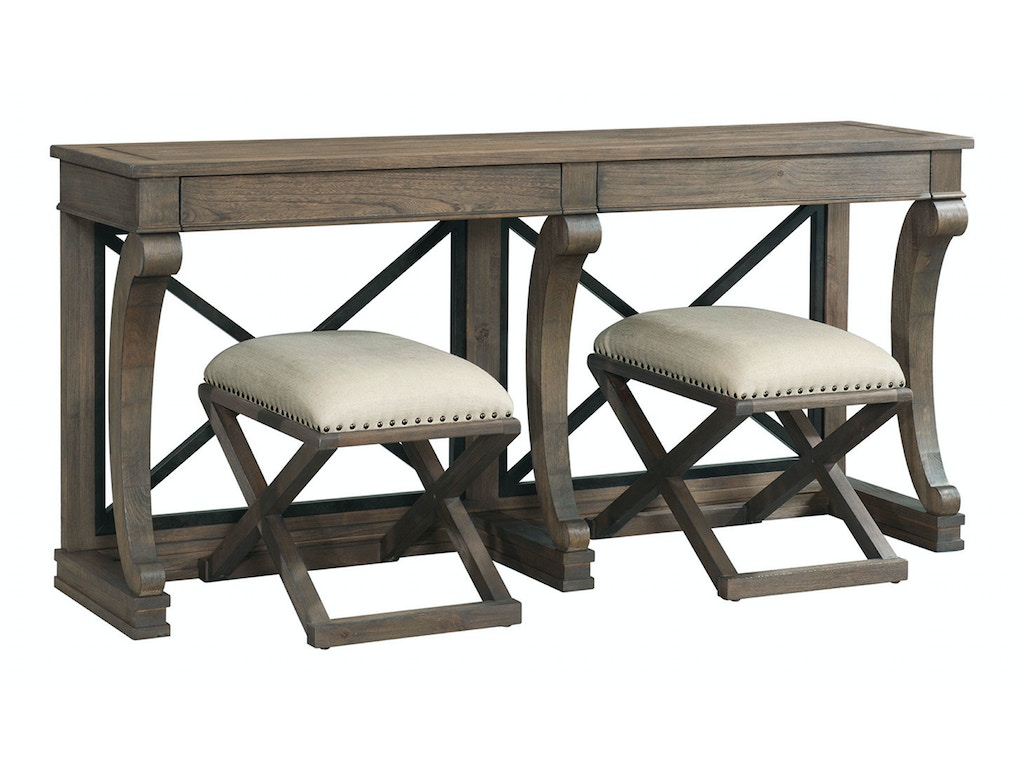 Bassett Living Room Console Table 6728 0698 Whitley Furniture Galleries Raleigh Nc