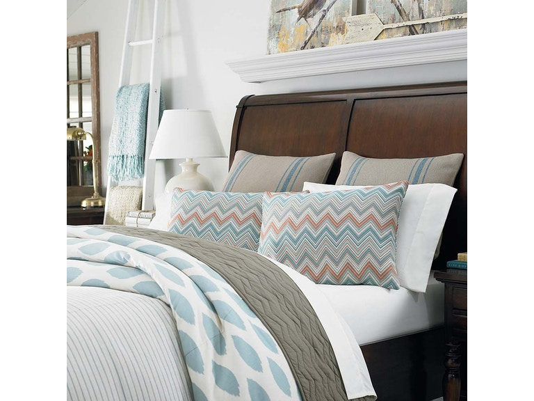Bassett Bedroom Bed Basics QN QLT Chevrn Taupe CC40TPQ Hickory Extraordinary Bedroom Basics