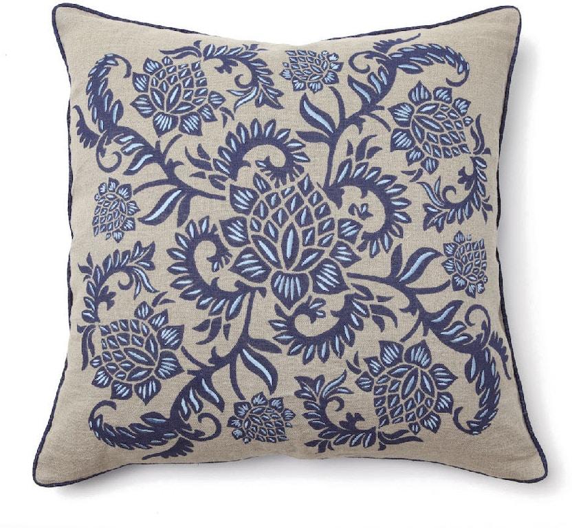 Bassett Furniture Jacksonville Fl: Bassett Accessories Indigo Print Pillow V150308