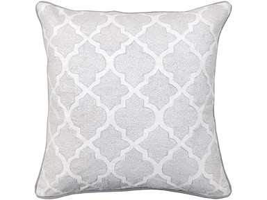 Bassett Aversa White Silver Pillow V950250