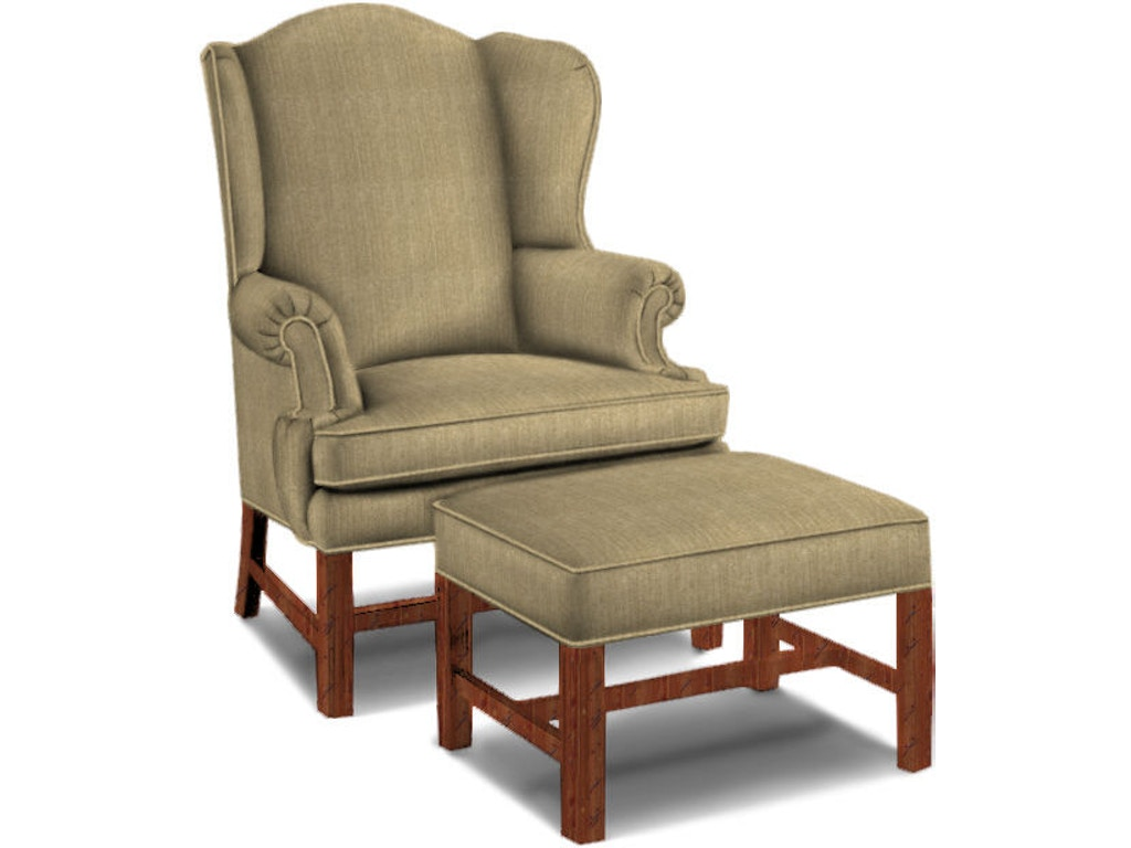Sherrill living room wing chair 1517 1 mcarthur for Wing chairs for living room