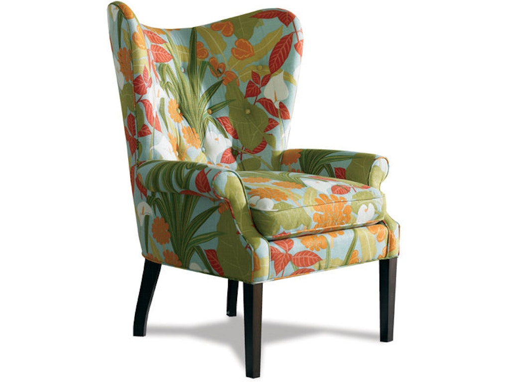 Sherrill living room wing chair 1622 mcarthur furniture for Wing chairs for living room