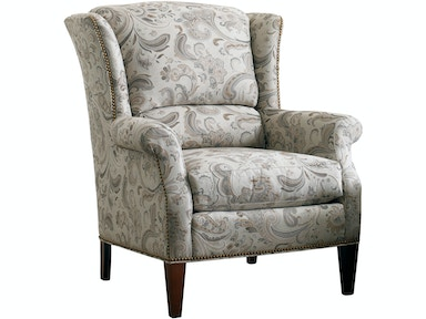 Sherrill Wing Chair With Exposed Wood Legs 1783