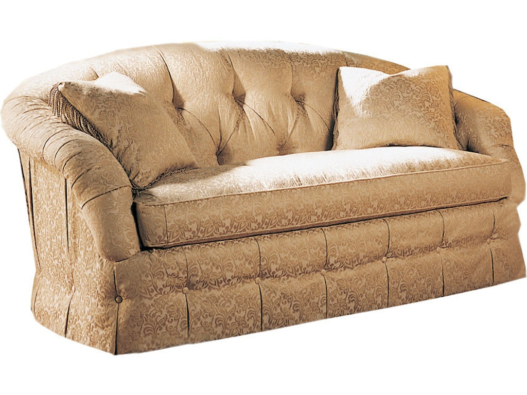 Sherrill Furniture Living Room Tufted One Cushion Sofa