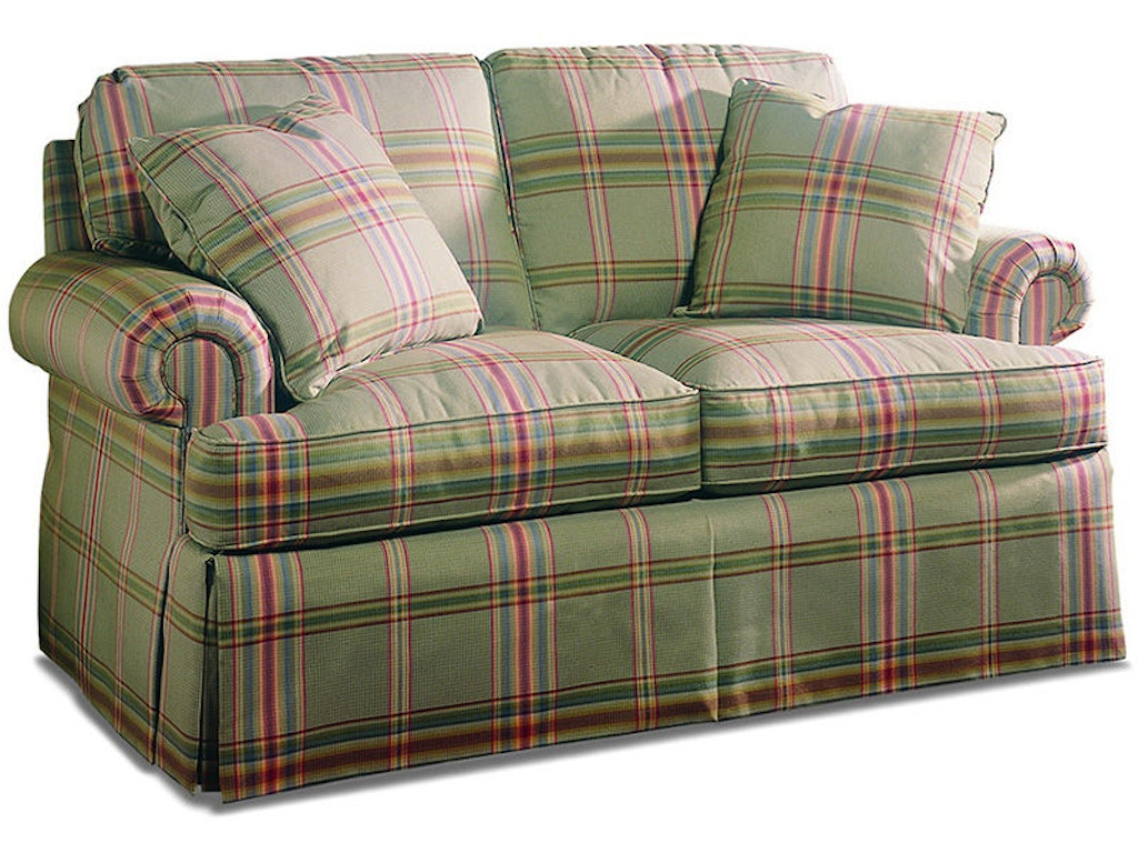 Sherrill Living Room Two Cushion Loveseat 2225 60 Hickory Furniture Mart Hickory Nc