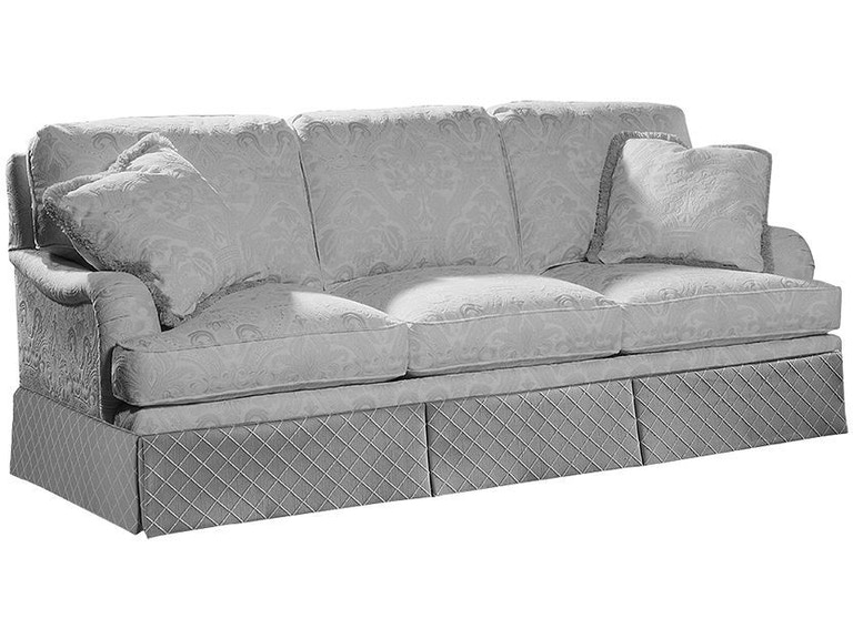 sherrill living room semi attached back three cushion sofa 3097 3
