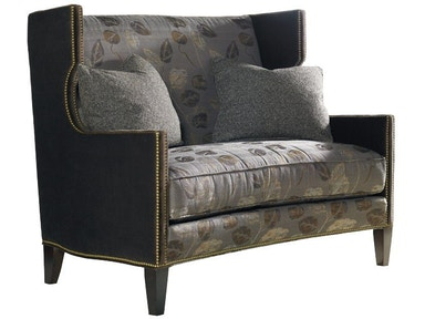 Sherrill One Cushion Settee With Nail Trim 4021