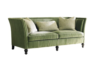Sherrill Two Cushion Sofa With Open Pleats 5240