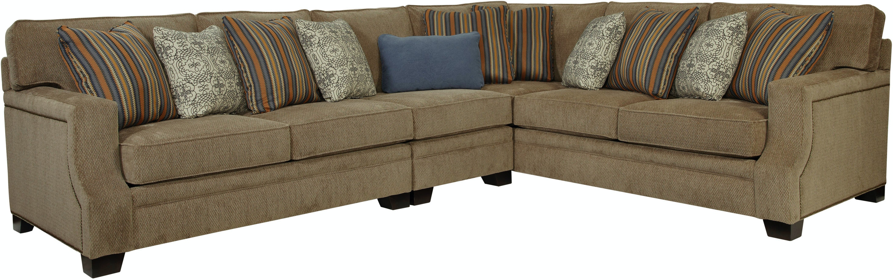 Microfiber Dining Room Chairs Broyhill Living Room 3671 Sectional Gibson Furniture