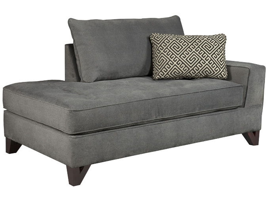Broyhill living room atlas raf chaise 3770 8 burke for Broyhill chaise