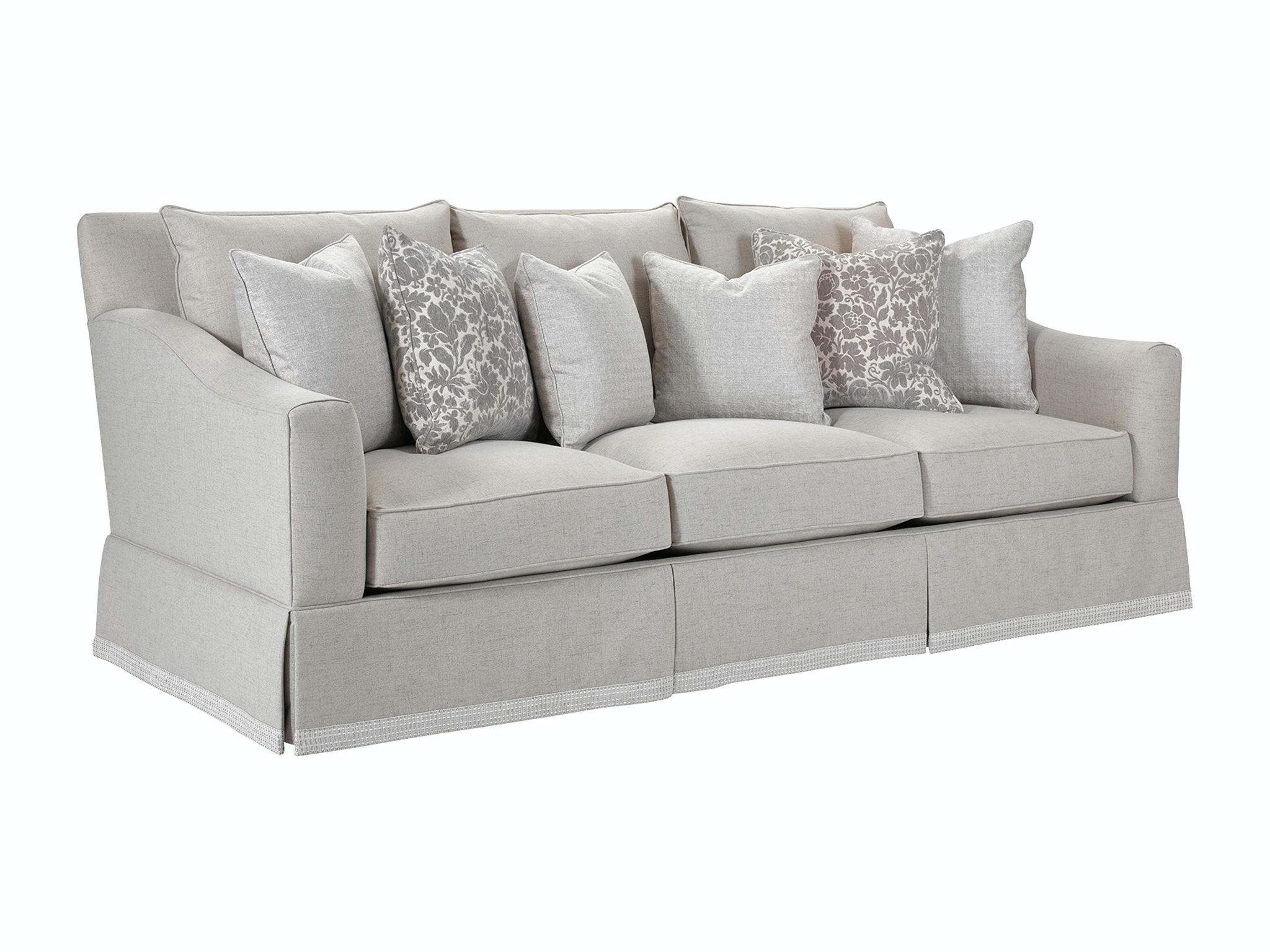 Merveilleux Broyhill Regina Sofa With Border Skirt 4284 3B